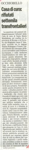 Da Il Gazzettino del 20 aprile 2008