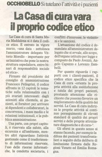 Da Il Gazzettino del 20 marzo 2008