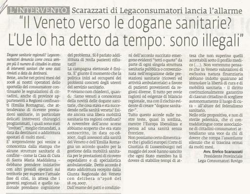 Da La Voce di Rovigo del 27 aprile 2008