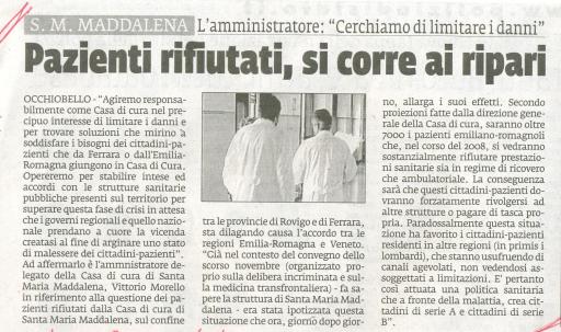 Da La Voce di Rovigo del 20 aprile 2008